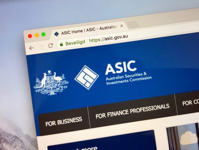 The ASIC website.