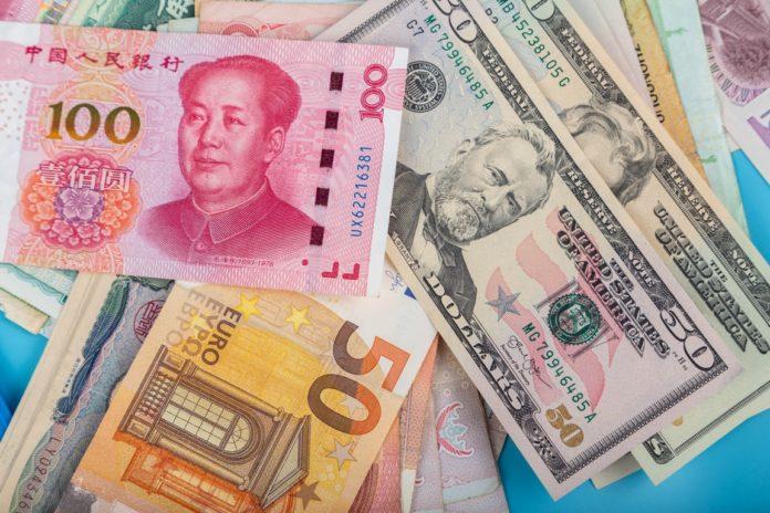 dollar, euro and yuan