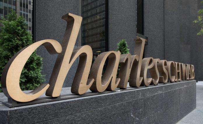 Charles Schwab Office Building Exterior Signs.