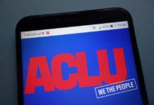 The American Civil Liberties Union logo on a smartphone