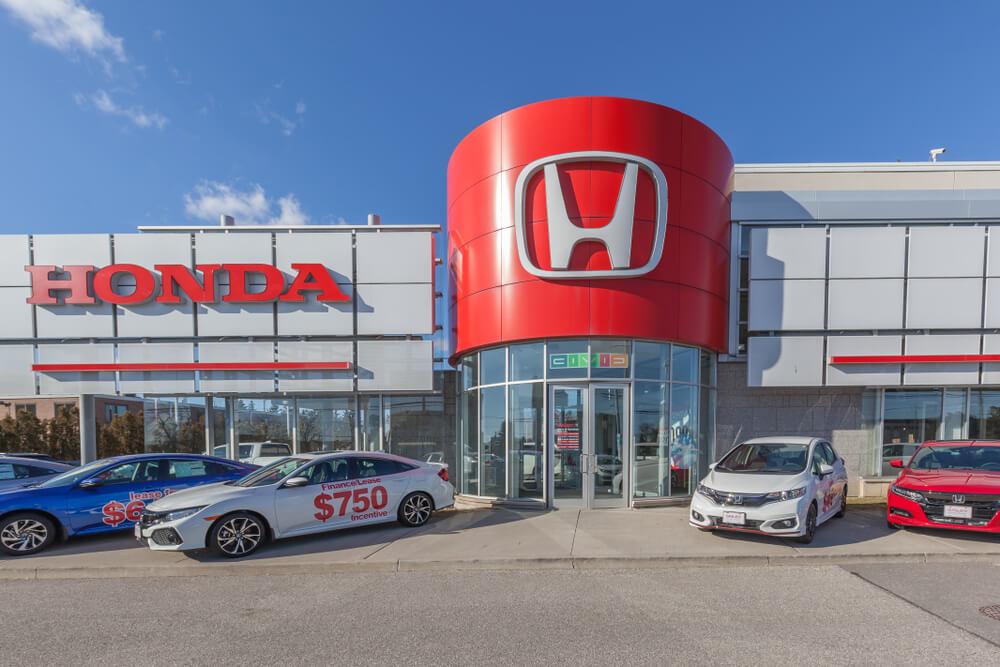 Exterior view of Honda dealership.
