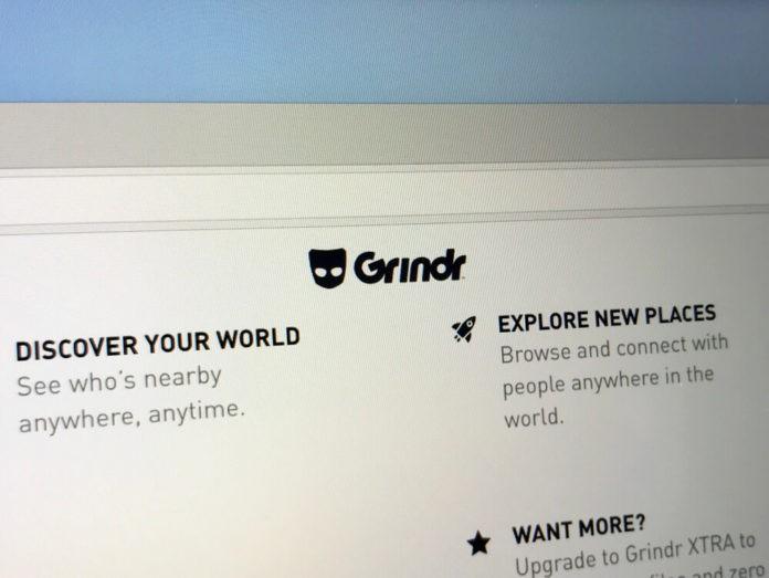 Website of Grindr.