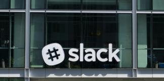 Slack company logo.