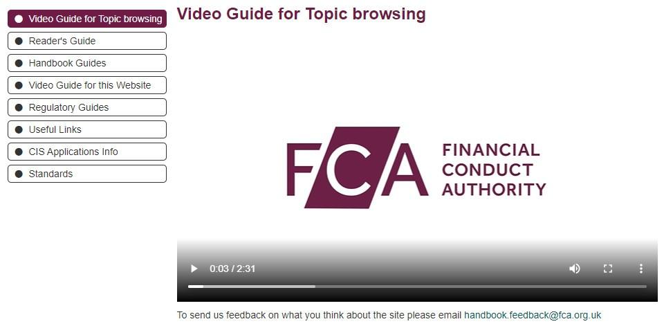 FCA - Video guide