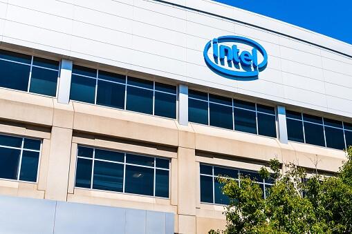 Intel logo photo.