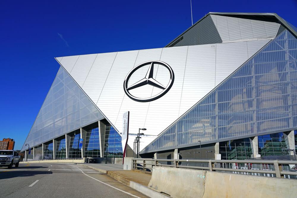 View of the Mercedes-Benz Stadium
