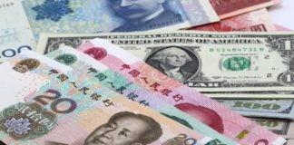 Chinese yuan and U.S dollar