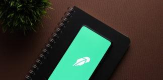 Robinhood app in smartphone.