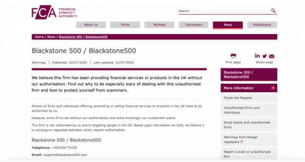 Balckstone500 scam