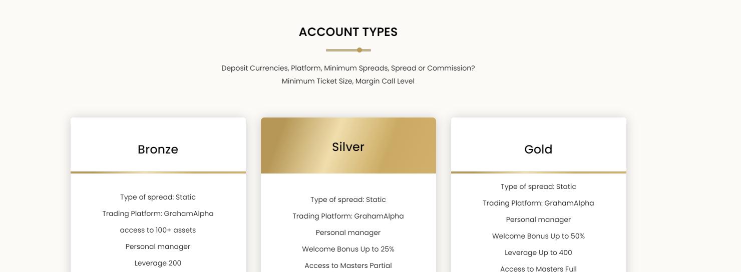 Graham Alpha Account Types