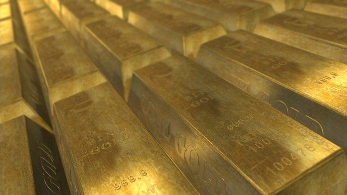 Gold in deposit