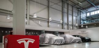 Tesla company logo.