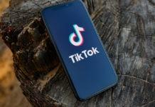 Tik Tok application icon on smartphone