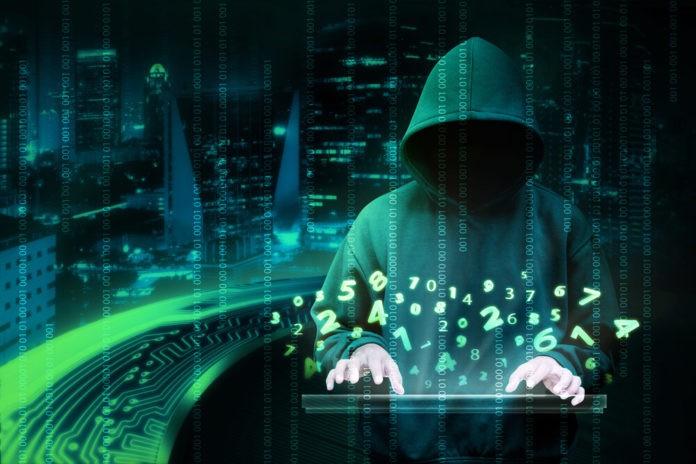 Man in hoodie shirt is hacker.