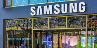 Samsung store logo.