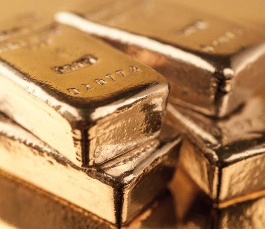 Precious shiny gold bars