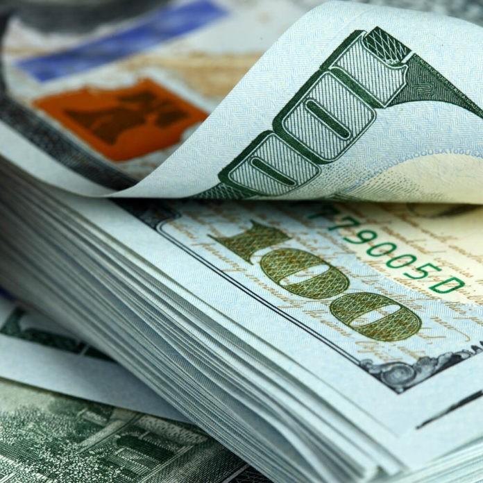 Bundle of dollar bills