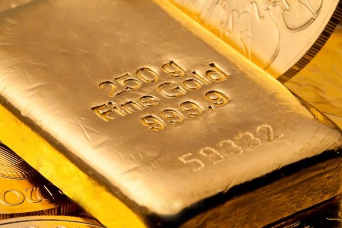 Gold close up