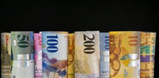 swiss franc and U.S. dollar